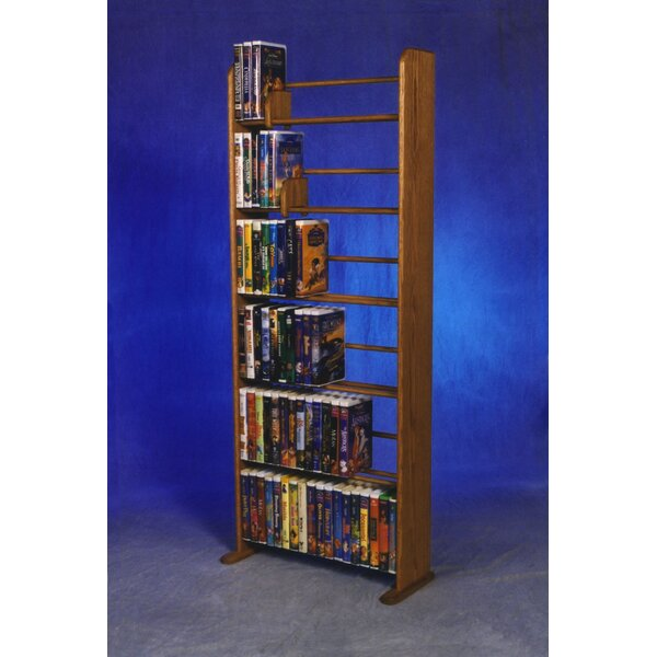 Delux VHS Dowel Multimedia Storage Rack by Wood Sh