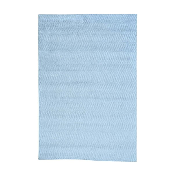 One-of-a-Kind Jeffrey Hand-Knotted Blue Area Rug by Orren Ellis