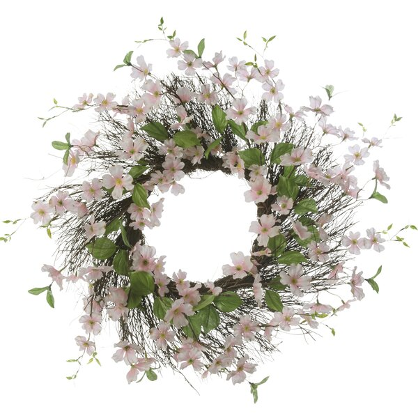 26 Dogwood Pink Wreath by Three Posts