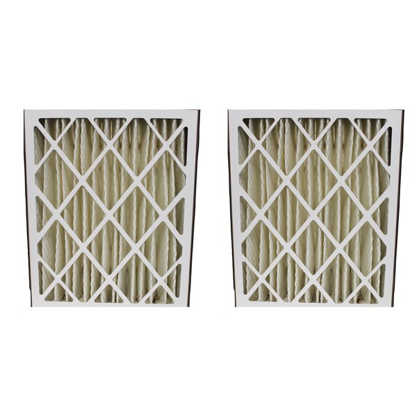 Carrier Pleated Furnace Air Filter (Set of 2) by Crucial