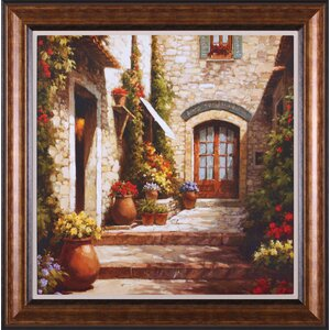 Sunlit Courtyard Framed Painting Print by Darby Home Co