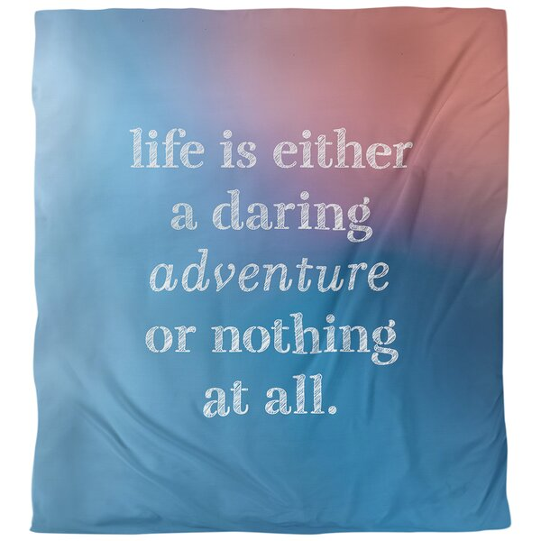 Quotes Life Adventure Single Reversible Duvet Cover