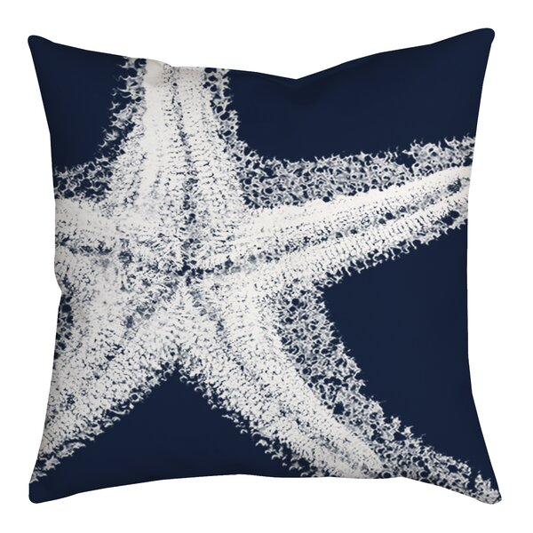 Spongy Starfish Watercolor Graphic Throw Pillow