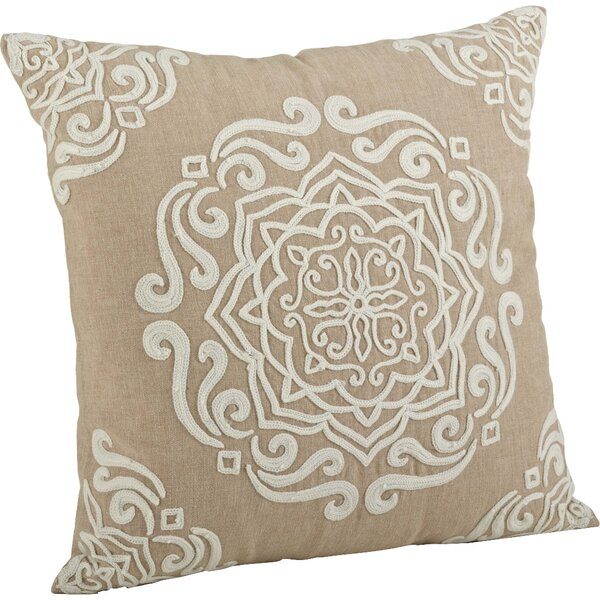 Lucile Embroidered Cotton Throw Pillow by Lark Manor