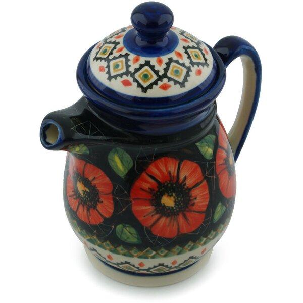 Poppy Passion Polish Pottery Pitcher by Polmedia