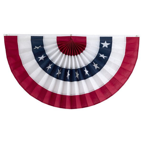 Pleated Fan with Stars Flag by Independence Bunting and Flag Corp