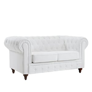 Leather Chesterfield Loveseat Madison Home USA
