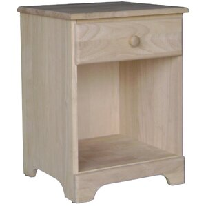 Unfinished 1 Drawer Nightstand by Inte..