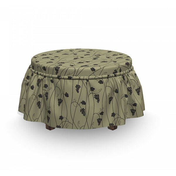 Monochrome Tender Grapes Ottoman Slipcover (Set Of 2) By East Urban Home
