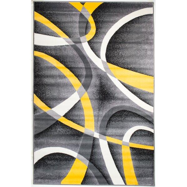 Rick Gray/Yellow Indoor Area Rug by Zipcode Design