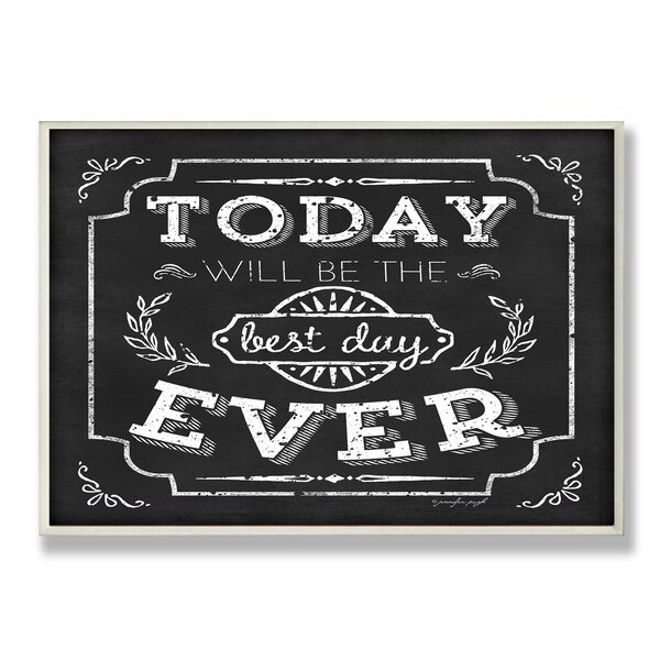 Best Day Ever Inspirational Chalkboard Look Textual Art Wall Plaque by Stupell Industries