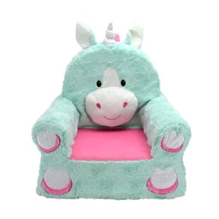 Ondine Sweet Seat Fantasy Unicorn Chair by Zoomie Kids