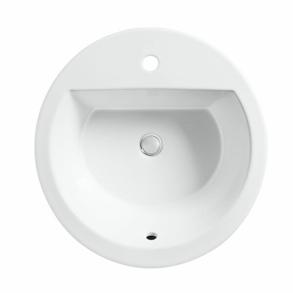 Bryant Ceramic Circular Drop-In Bathroom Sink with Overflow by Kohler