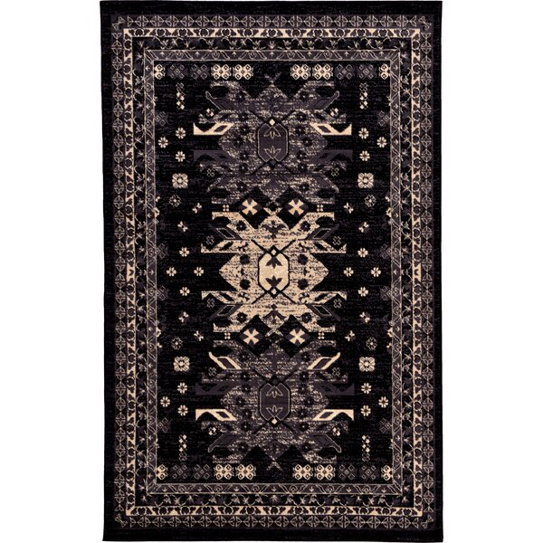 Valley Black Area Rug by World Menagerie