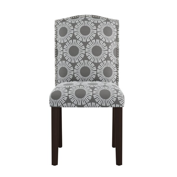 Kelston Nail Button Arched Medallion Side Chair by Wrought Studio