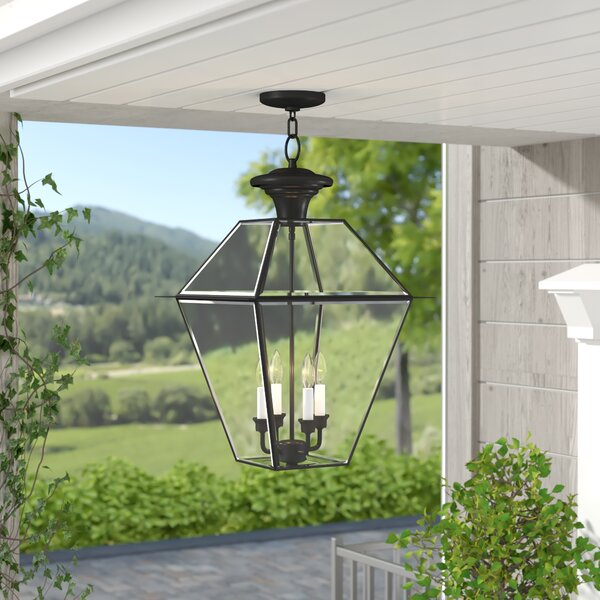 Orchard Lane 4-Light Outdoor Hanging Lantern by Three Posts