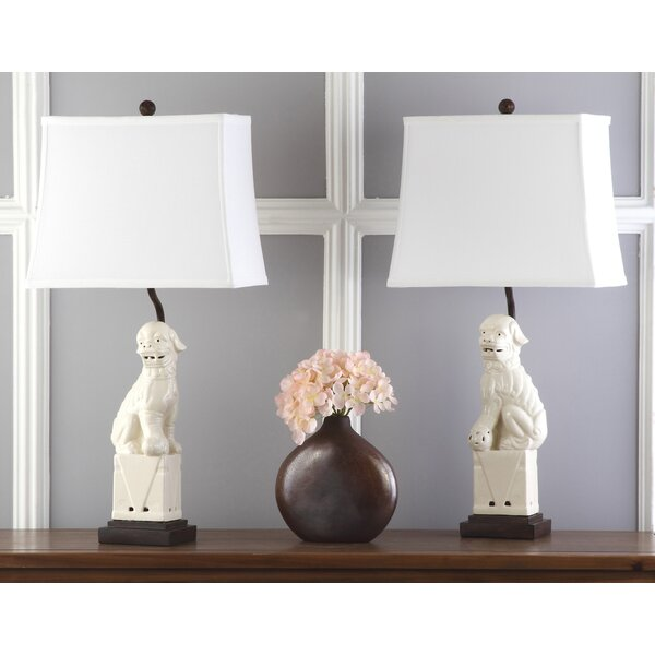 Mcchristian Foo Dog 28 Table Lamp (Set of 2) by World Menagerie
