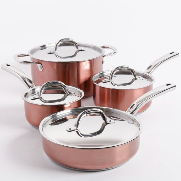 Brookfield 8 Piece Stainless Steel Cookware Set by Oster
