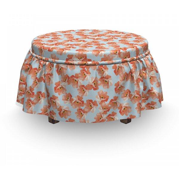 Home & Garden Feminine Chevron Ottoman Slipcover (Set Of 2)