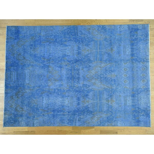 One-of-a-Kind Blackford Overdyed Ikat Handwoven Wool Area Rug by Isabelline
