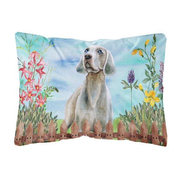 Sanfilippo Weimaraner Spring Indoor/Outdoor Throw Pillow by Winston Porter
