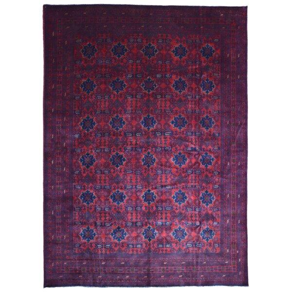 Seamus Khal Mohammadi Afghan Hand Woven Wool Pink/Blue Area Rug by Bloomsbury Market