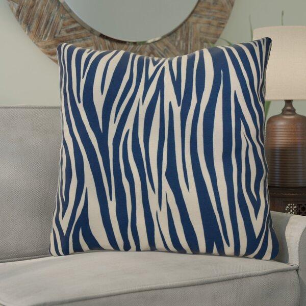 Kam Wood Striped Geometric Euro Pillow by Bloomsbury Market