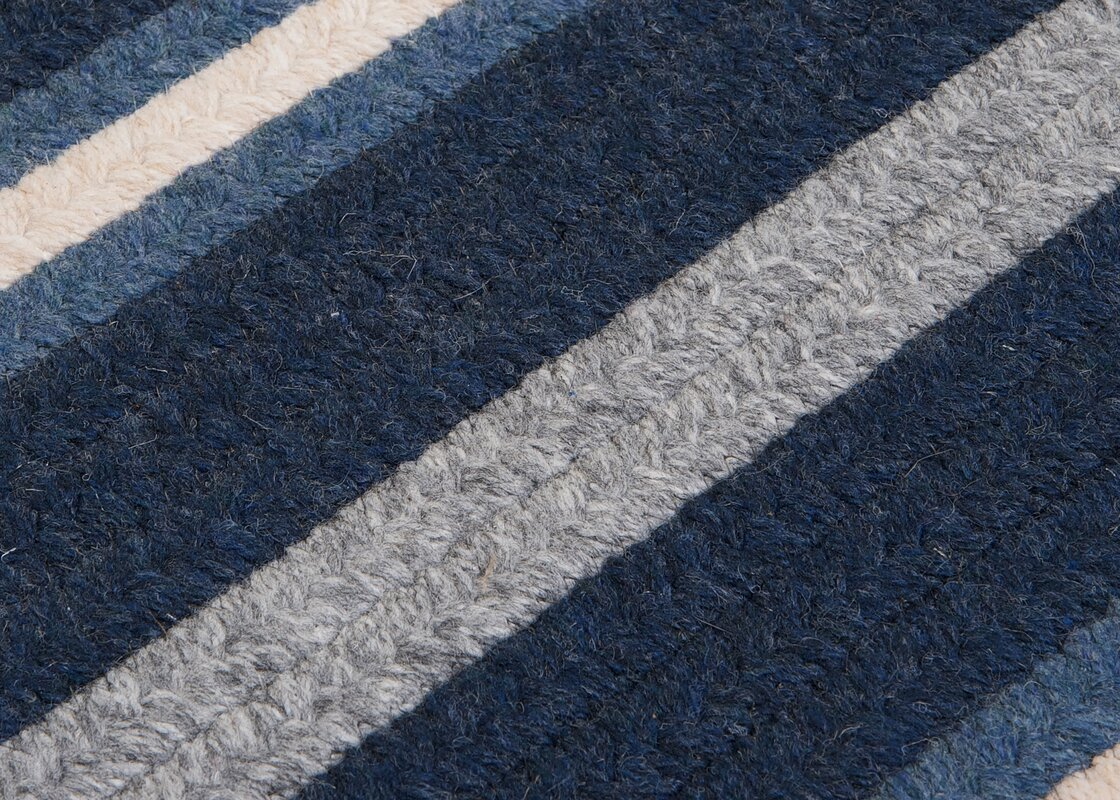 Salisbury Blue Striped Area Rug