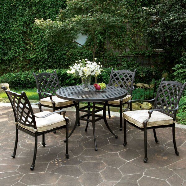 Kipling 5 Piece Dining Set with Cushion by Darby Home Co