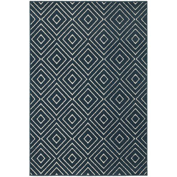 Brookline Navy/Ivory Area Rug by Threadbind