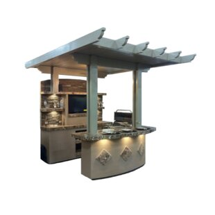 St Croix BBQ Island Outdoor Kitchen 4 Burner Built In Convertible Gas Grill