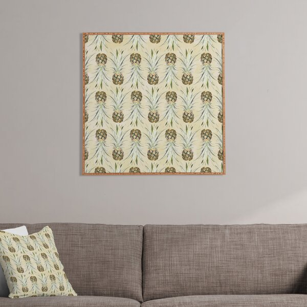 Pineapple Jungle Earthy Framed Graphic Art by Latitude Run