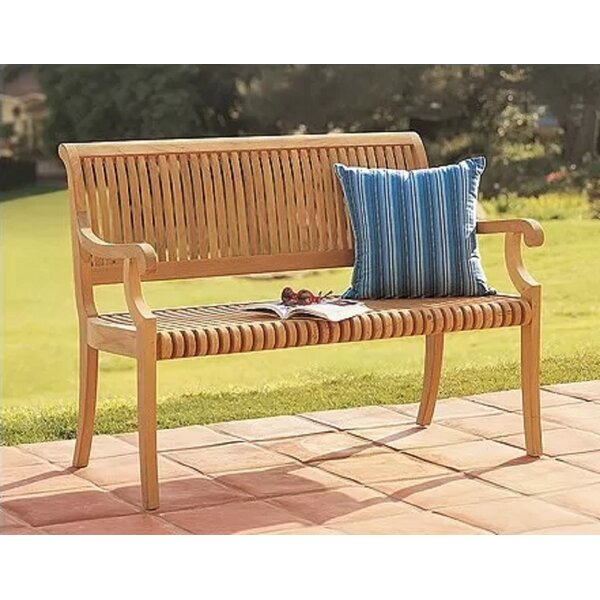Magaw Grade-A Luxurious  Teak Garden Bench By Highland Dunes