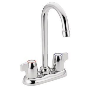 Moen Chateau Double Handle Centerset Bar Faucet with Spout Swing