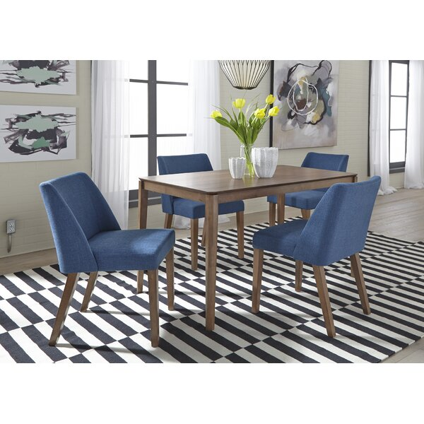 Grimmer 5 Piece Solid Wood Dining Set by Ivy Bronx