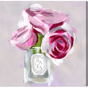 'Rose Candle' Painting Print on Wrapped Canvas by Willa Arlo Interiors