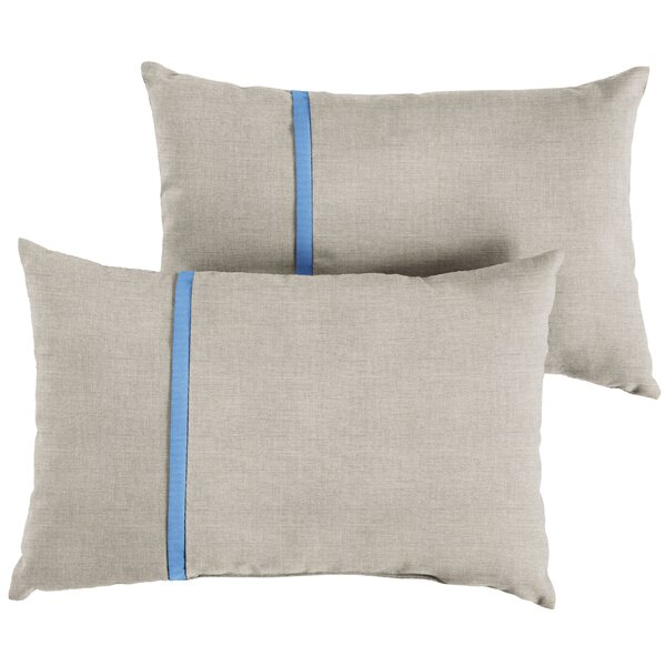 Ansel Indoor/Outdoor Lumbar Pillow (Set of 2) by Longshore Tides