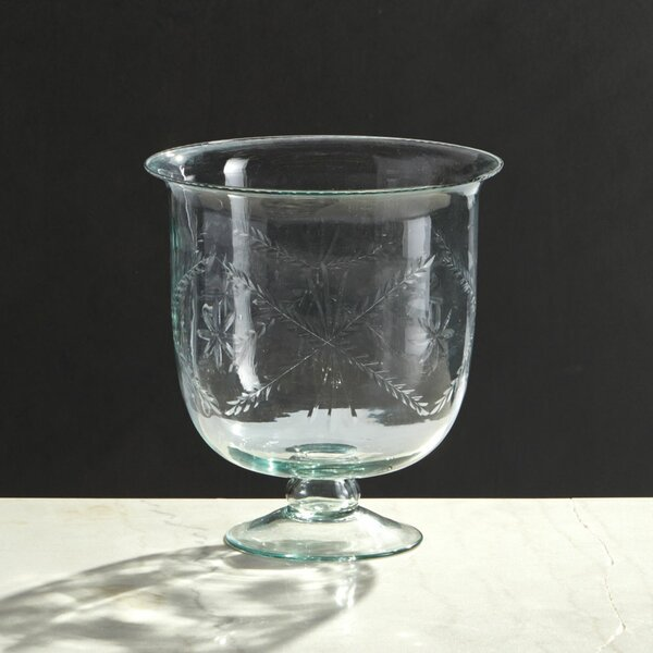 Mason Clear Glass Footed Table Vase by Rosalind Wheeler