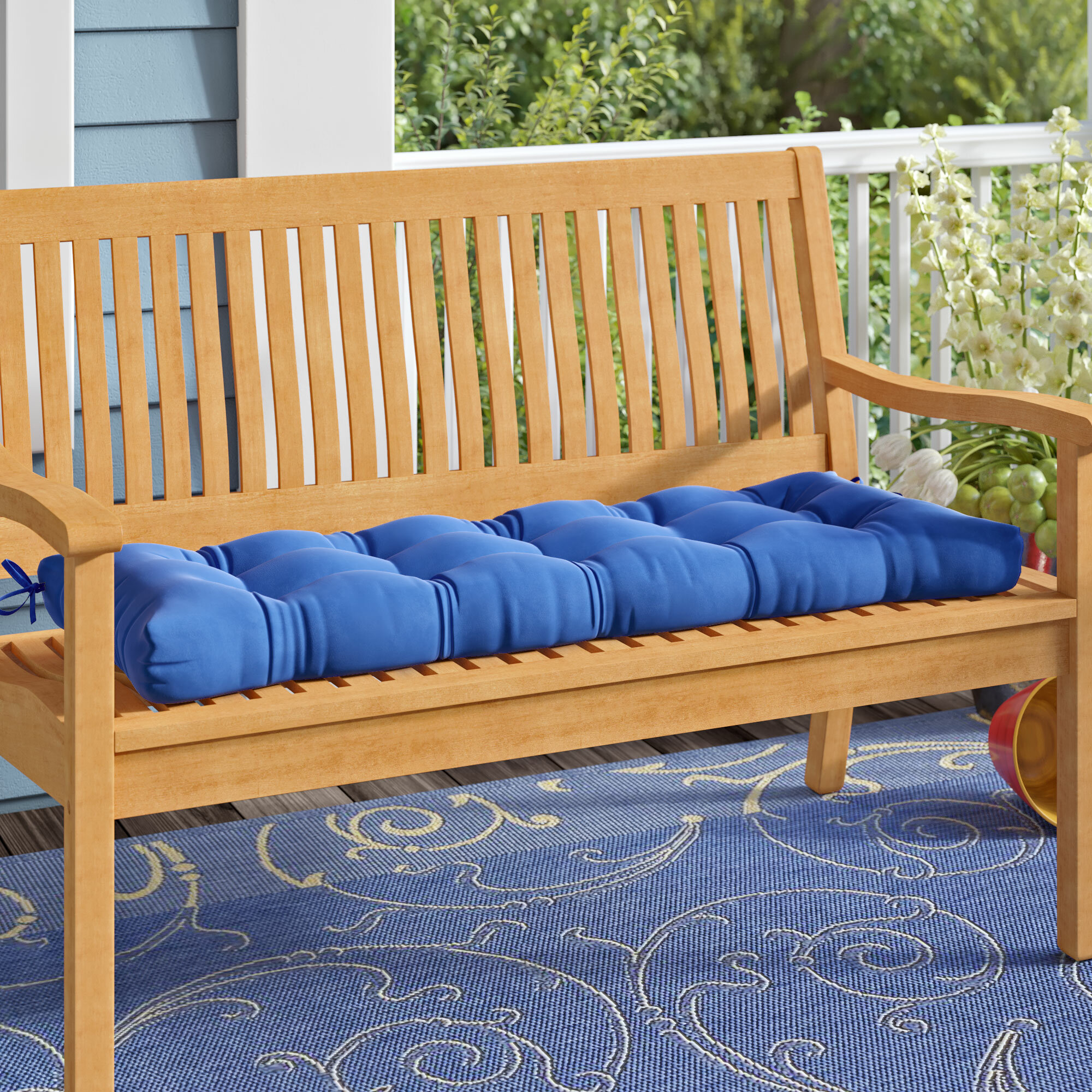 Picture of: Benches Garden Outdoors Outdoor Garden Bench Cushion Indoor Swing Cushion Bench Cushion 2 3 4 Seater V2