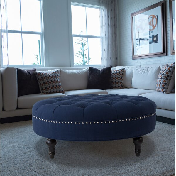Holquin Tufted Round Ottoman by Alcott Hill