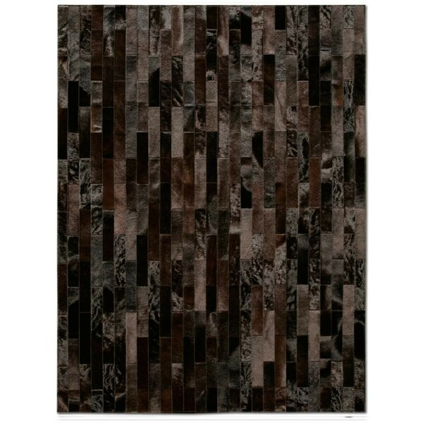 Patchwork Cowhide Linea Brownie Area Rug by Pure Rugs