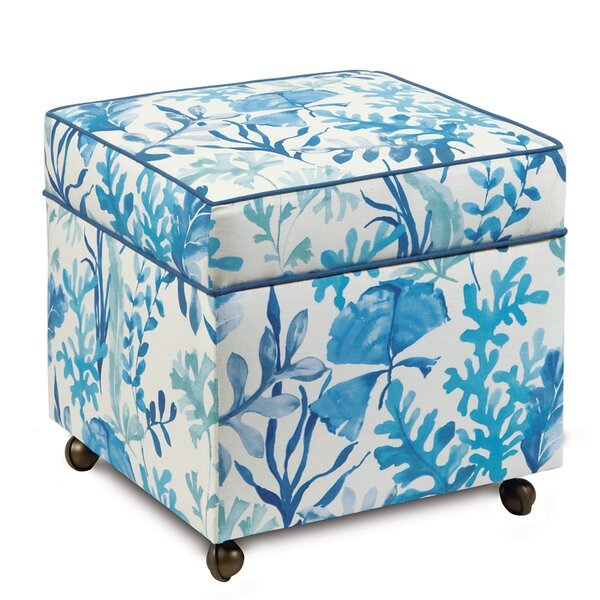 Olympia Azure Storage Ottoman by Eastern Accents