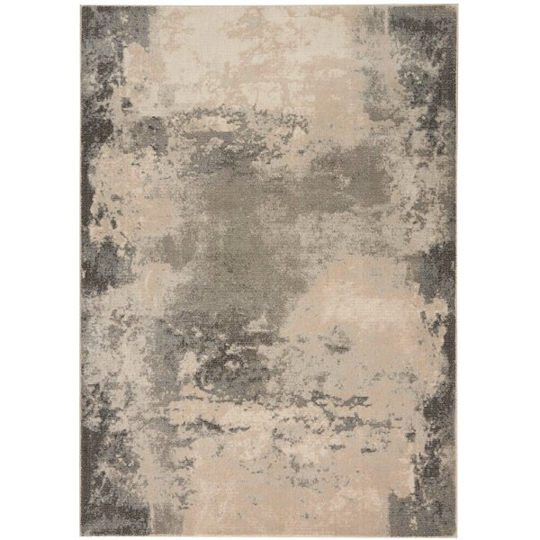 Mana Ivory/Gray Abstract Area Rug by Williston Forge
