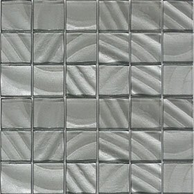 Valverde 3D 2 x 2 Glass/Aluminum Mosaic Tile in Pearl by Vetromani