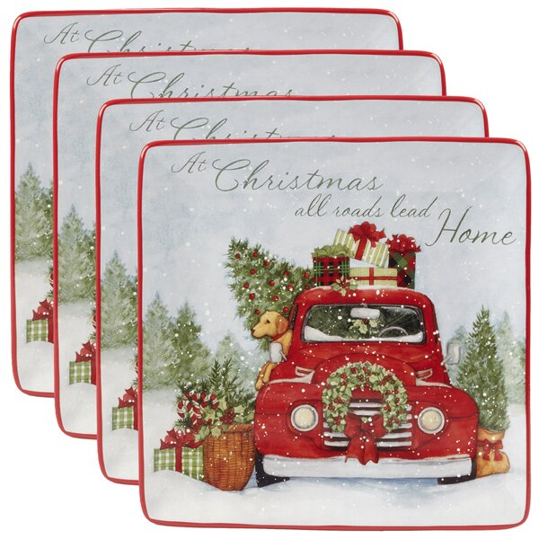 Esther 10.5 Dinner Plate (Set of 4) by The Holiday Aisle