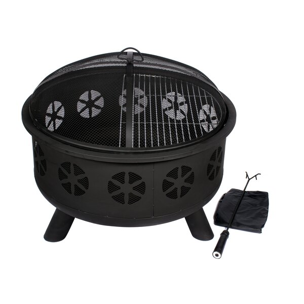 Stainless Steel Wood Burning Fire Pit by HIO