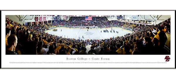 NCAA Hockey Standard Framed Photographic Print by Blakeway Worldwide Panoramas, Inc