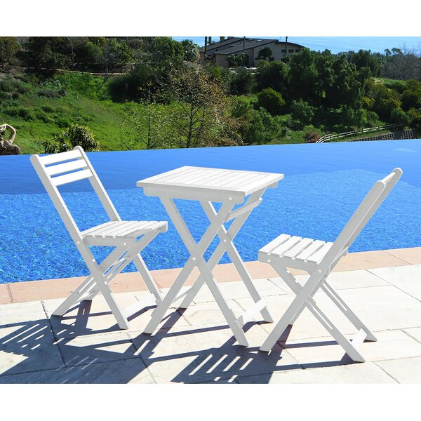 Andromeda Outdoor 3 Piece Bistro Set by Beachcrest Home