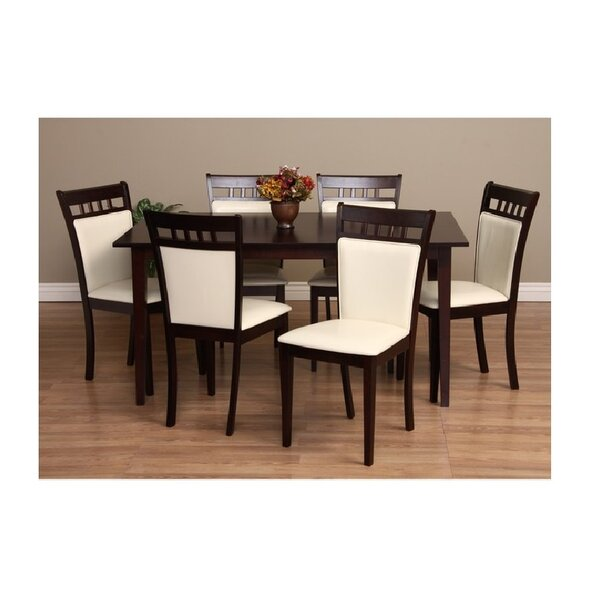 Shirlyn 7 Piece Solid Wood Dining Set by Warehouse of Tiffany