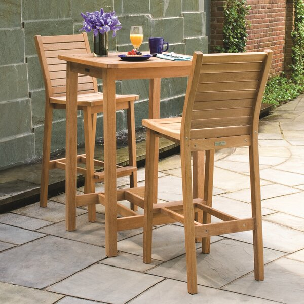 Shanelle Shorea 3 Piece Bar Height Dining Set by Darby Home Co
